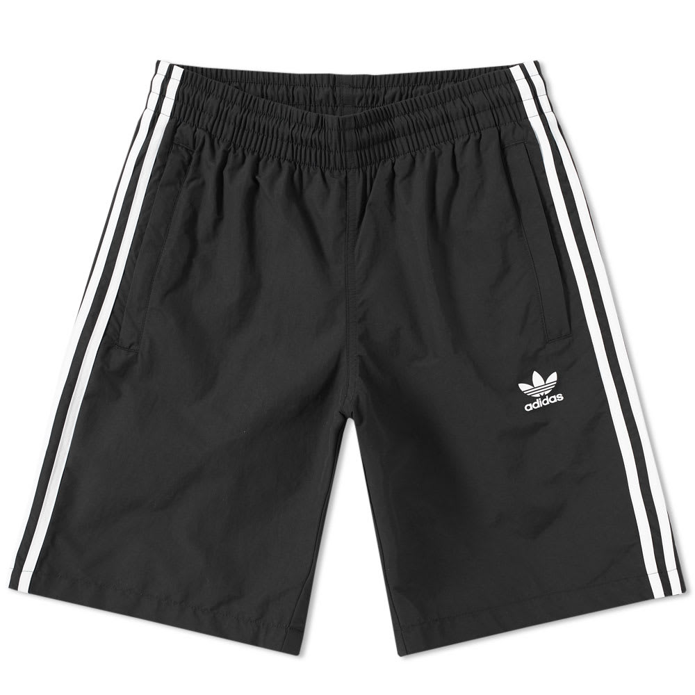 Adidas 3 Stripe Swim Short Black