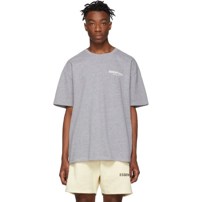Photo: Essentials Grey Logo T-Shirt