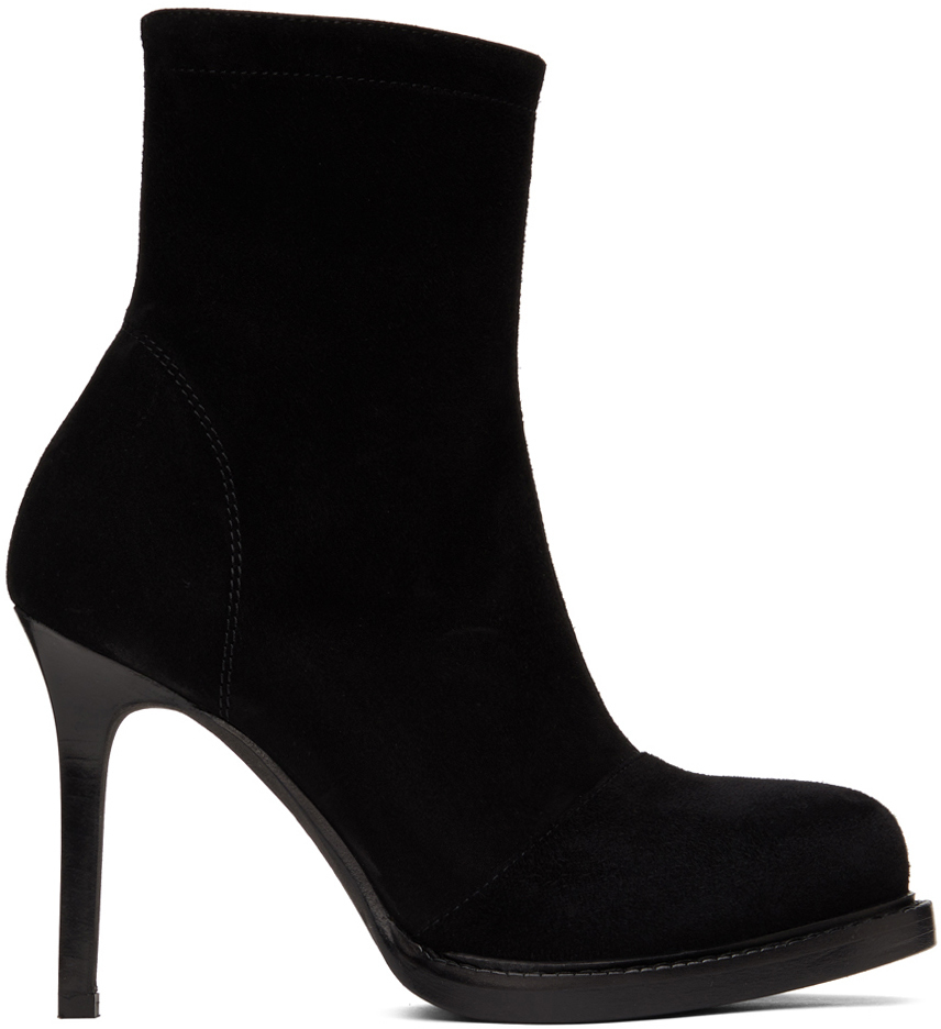 Photo: Ann Demeulemeester Black Suede Ankle Boots