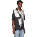 Ksubi Black and White Dancers Resort Short Sleeve Shirt