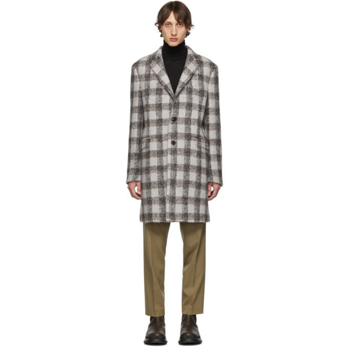 Photo: Etro Grey Semi-Traditional Regular Fit Coat