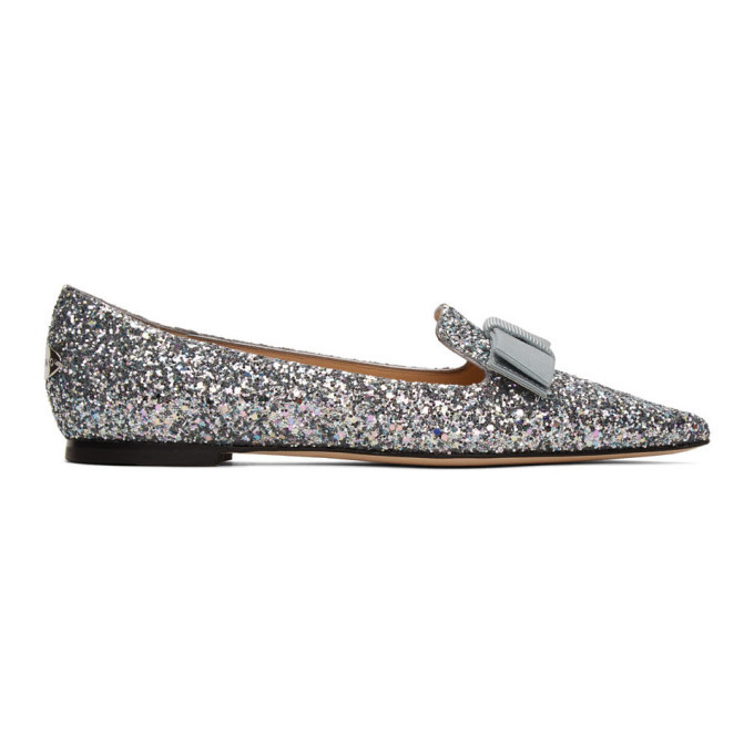 Photo: Jimmy Choo Silver Blast Corse Glitter Gala 35 Loafers