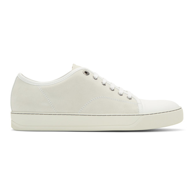 Photo: Lanvin Off-White Suede Sneakers
