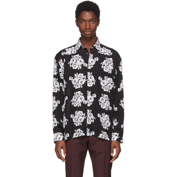 Photo: Givenchy Black Archive Flower Print Shirt
