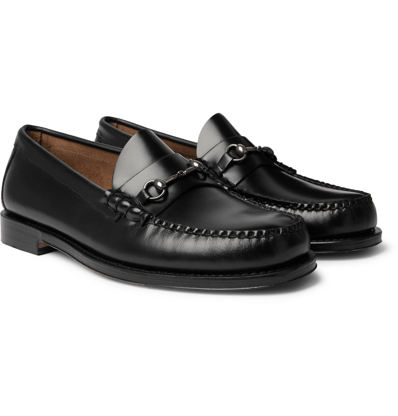 Photo: G.H. Bass & Co. - Weejuns Heritage Lincoln Horsebit Leather Loafers - Black