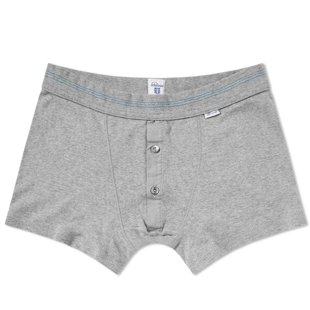 Schiesser Karl-Heinz Boxer Short Grey Melange