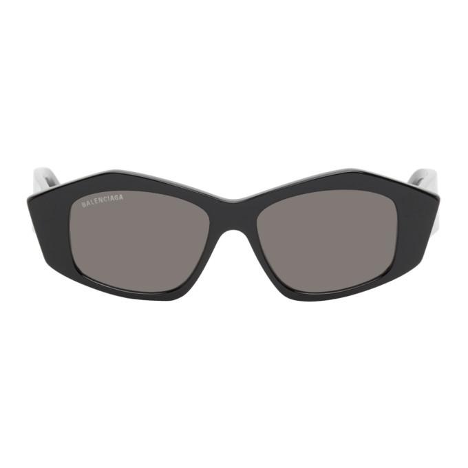 Photo: Balenciaga Black Cut Cat-Eye Sunglasses