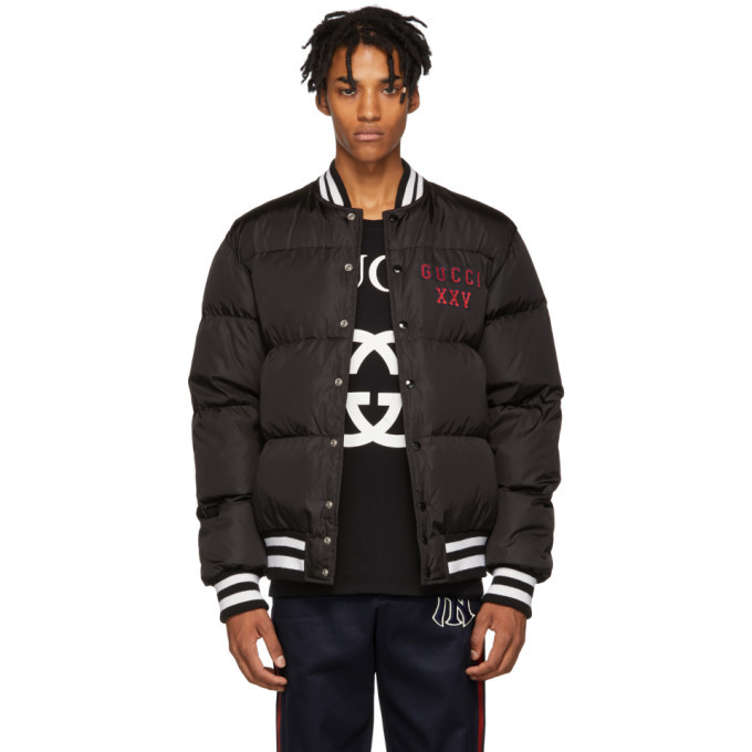 Photo: Gucci Black Pittsburgh Pirates Edition Down Jacket