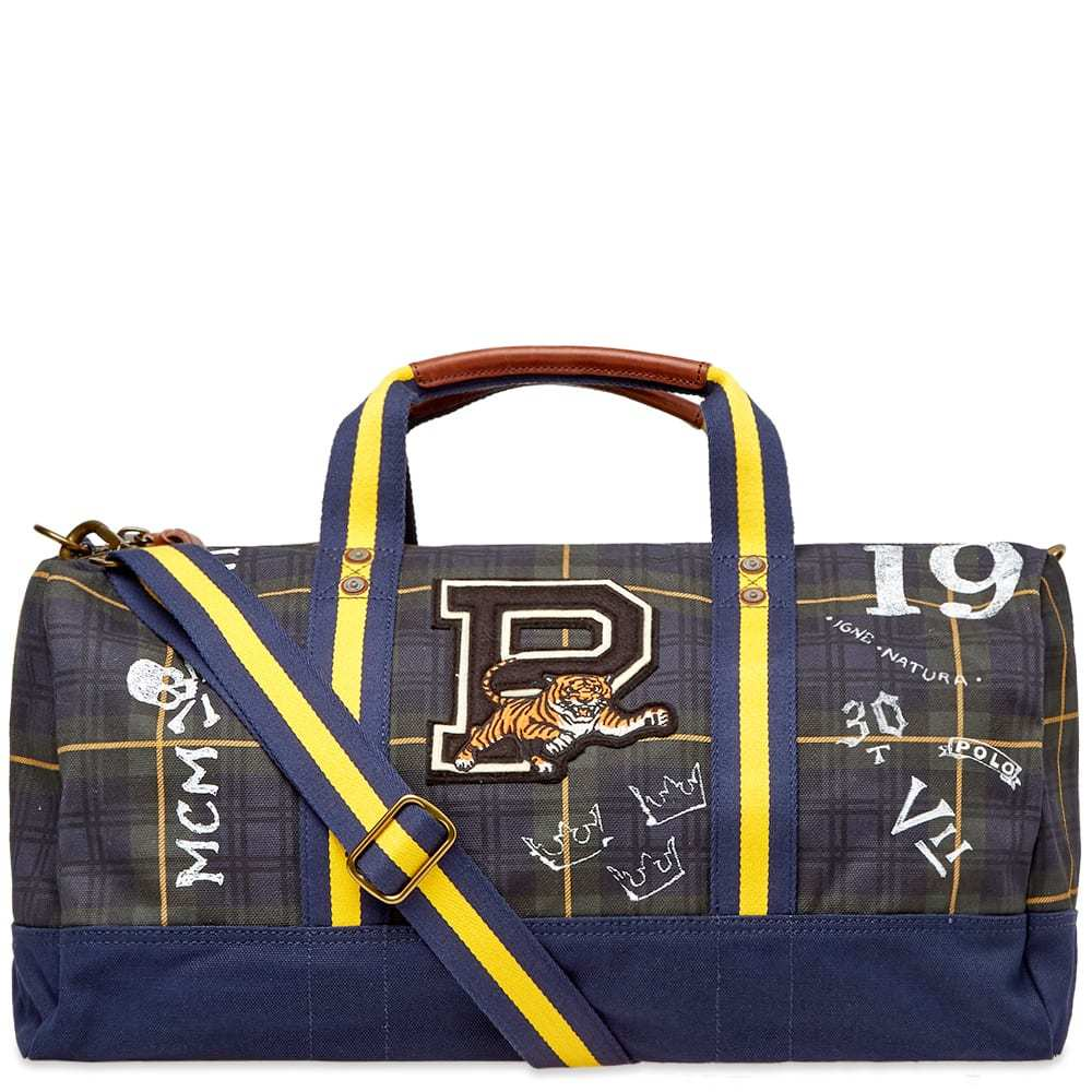 Photo: Polo Ralph Lauren Black Watch Tartan Patch Duffel Bag