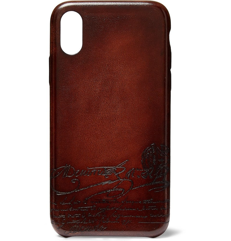 Photo: Berluti - Native Union Scritto Leather iPhone XS Case - Brown