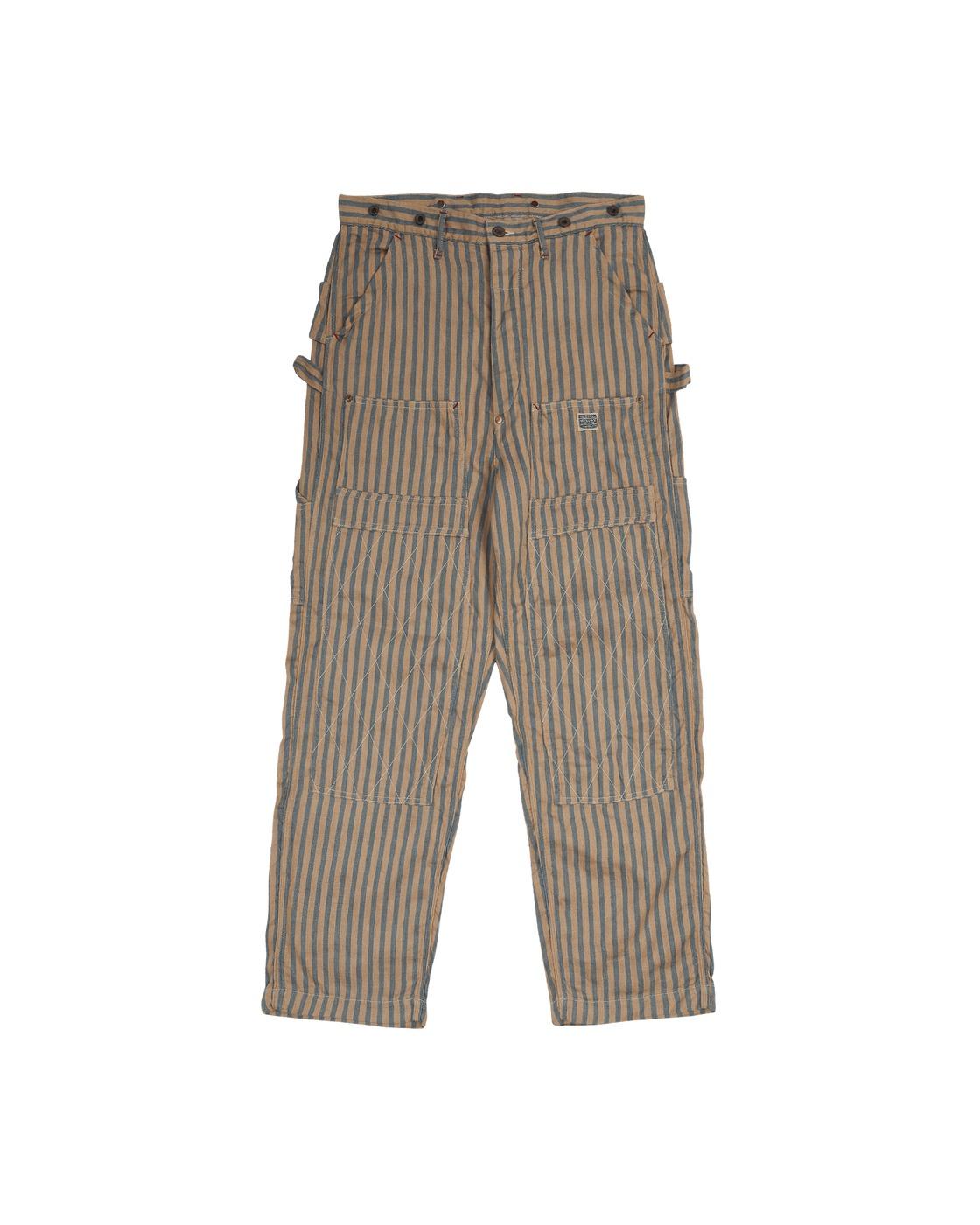 Kapital Linen Blues Hickoree Lumber Pants Beige