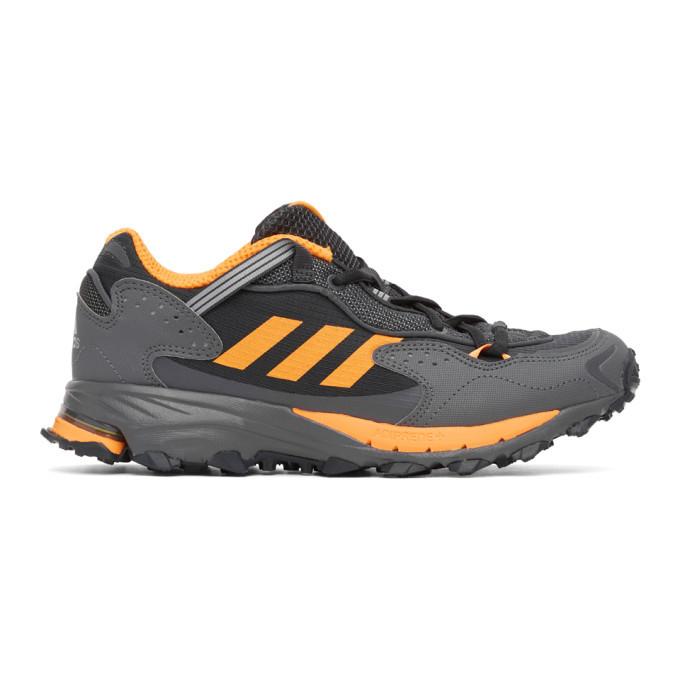 Photo: adidas Originals Black and Orange Response Hoverturf GF6100A Sneakers