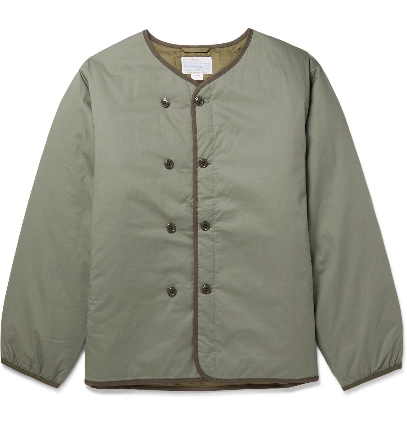 Photo: nanamica - Kodenshi Padded Cotton Down Jacket - Green