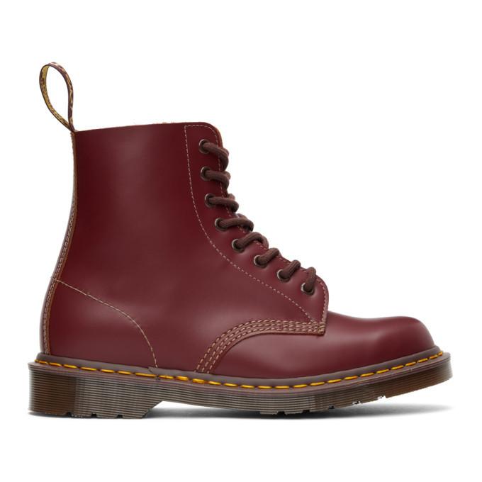 Photo: Dr. Martens Burgundy Vintage 1460 Lace-Up Boots