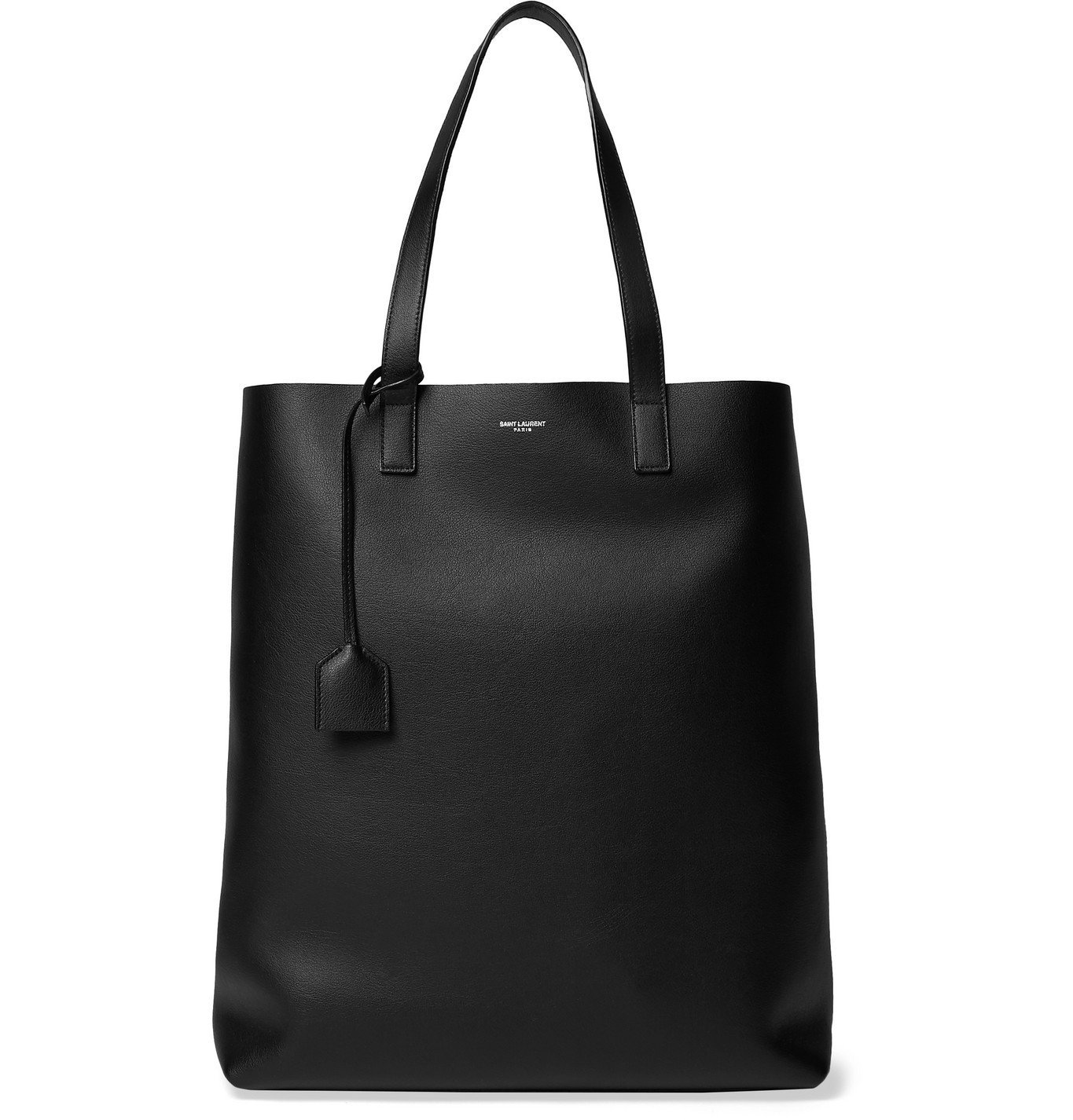 Photo: SAINT LAURENT - Leather Tote Bag - Black