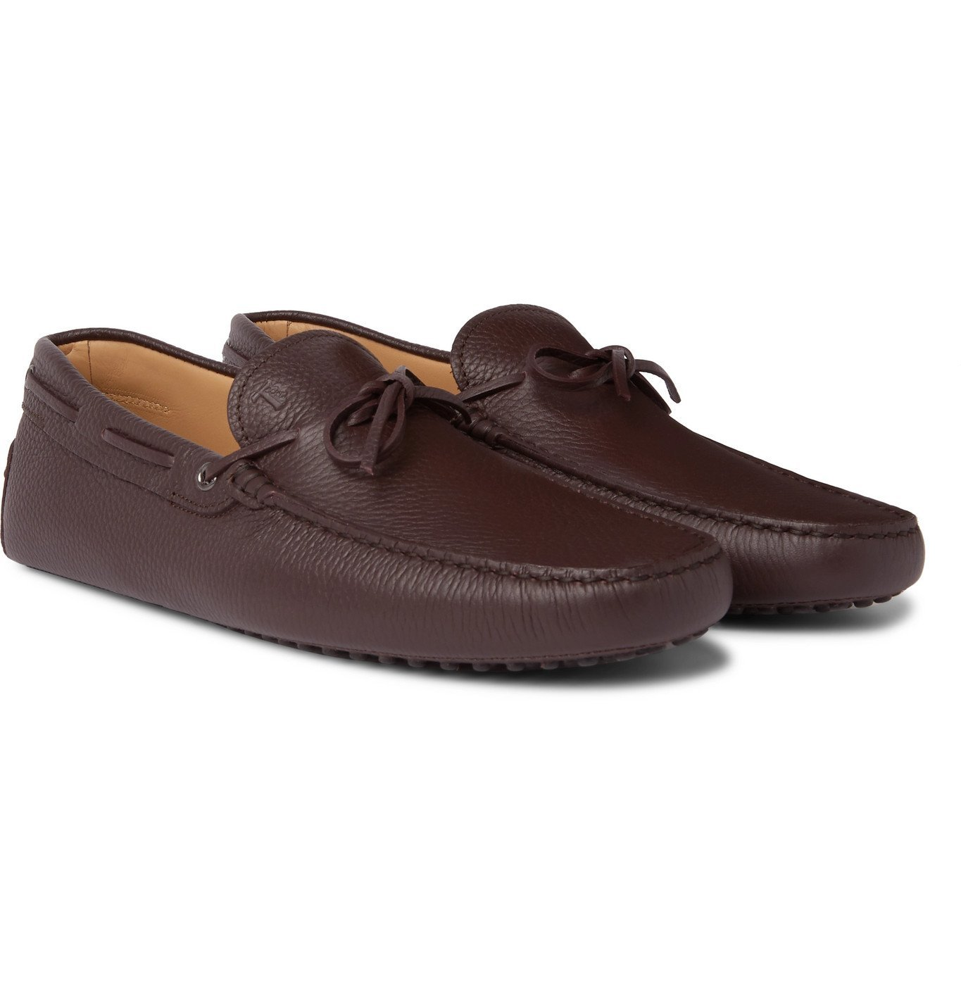Photo: Tod's - Gommino Full-Grain Leather Driving Shoes - Burgundy