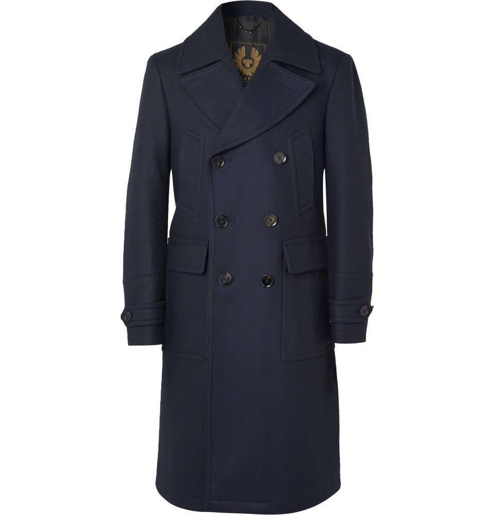 Belstaff - New Mildford Double-Breasted Padded Wool-Blend Overcoat - Navy