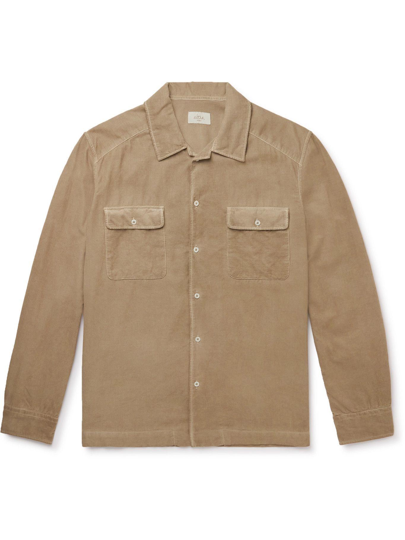 Photo: Altea - Cotton-Corduroy Shirt - Neutrals