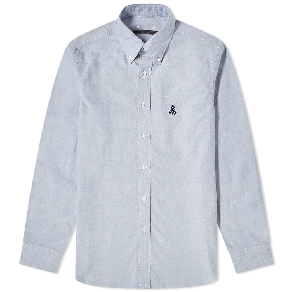 Photo: SOPHNET. Bandana Sleeve Paneled Button Down Shirt