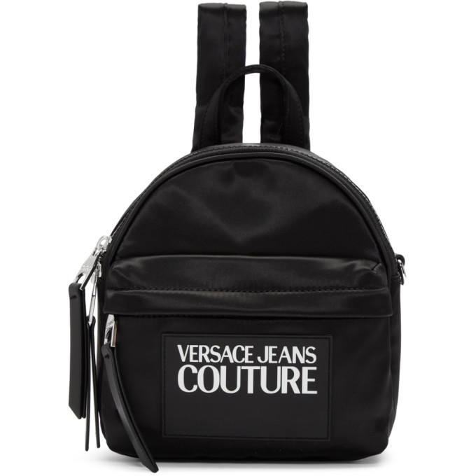 Photo: Versace Jeans Couture Black Nylon Logo Backpack