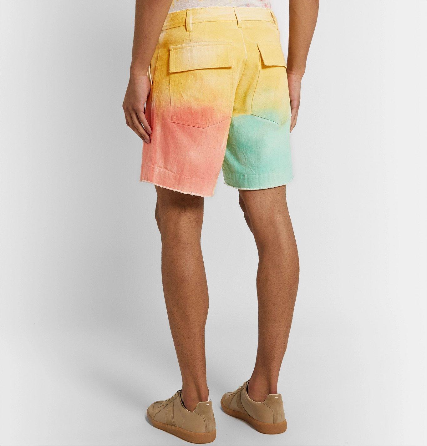 The Elder Statesman - Tie-Dyed Cotton-Twill Shorts - Multi