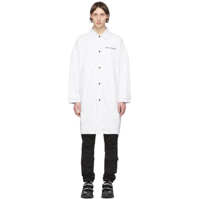 Photo: Palm Angels White Logo Raincoat