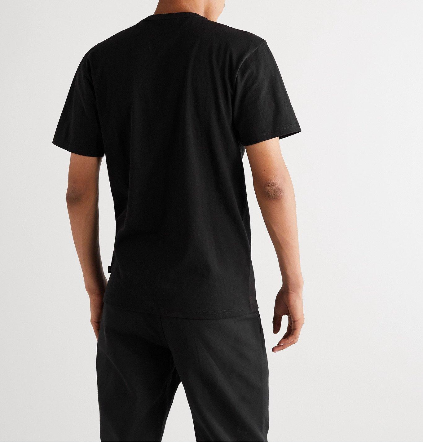 Vans - Vault Logo-Print Organic Cotton-Jersey T-Shirt - Black