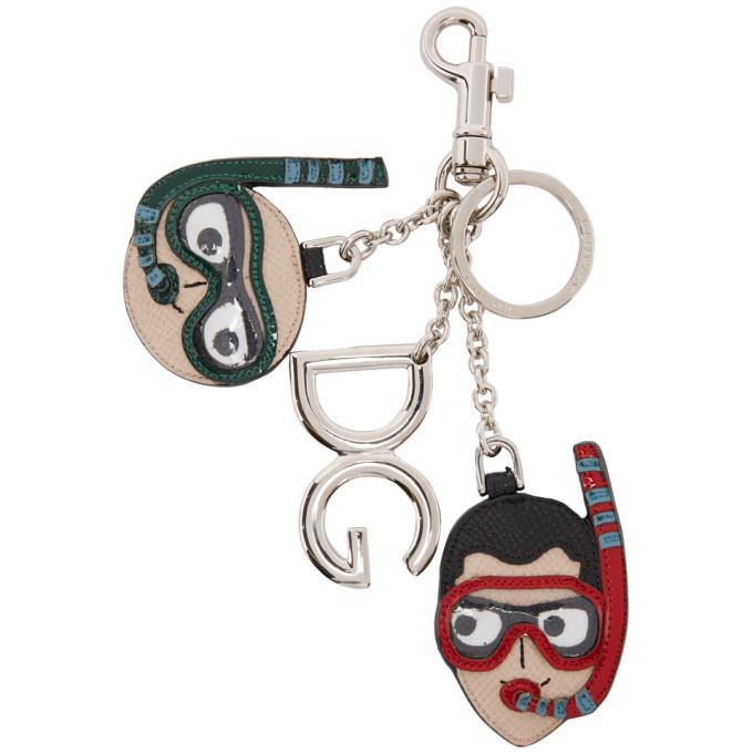 Photo: Dolce and Gabbana Multicolor Scuba Designers Key Chain