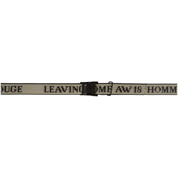Photo: LHomme Rouge Black and White Leaving Home Strap Belt