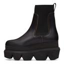 Sacai Black Platform Chelsea Boots