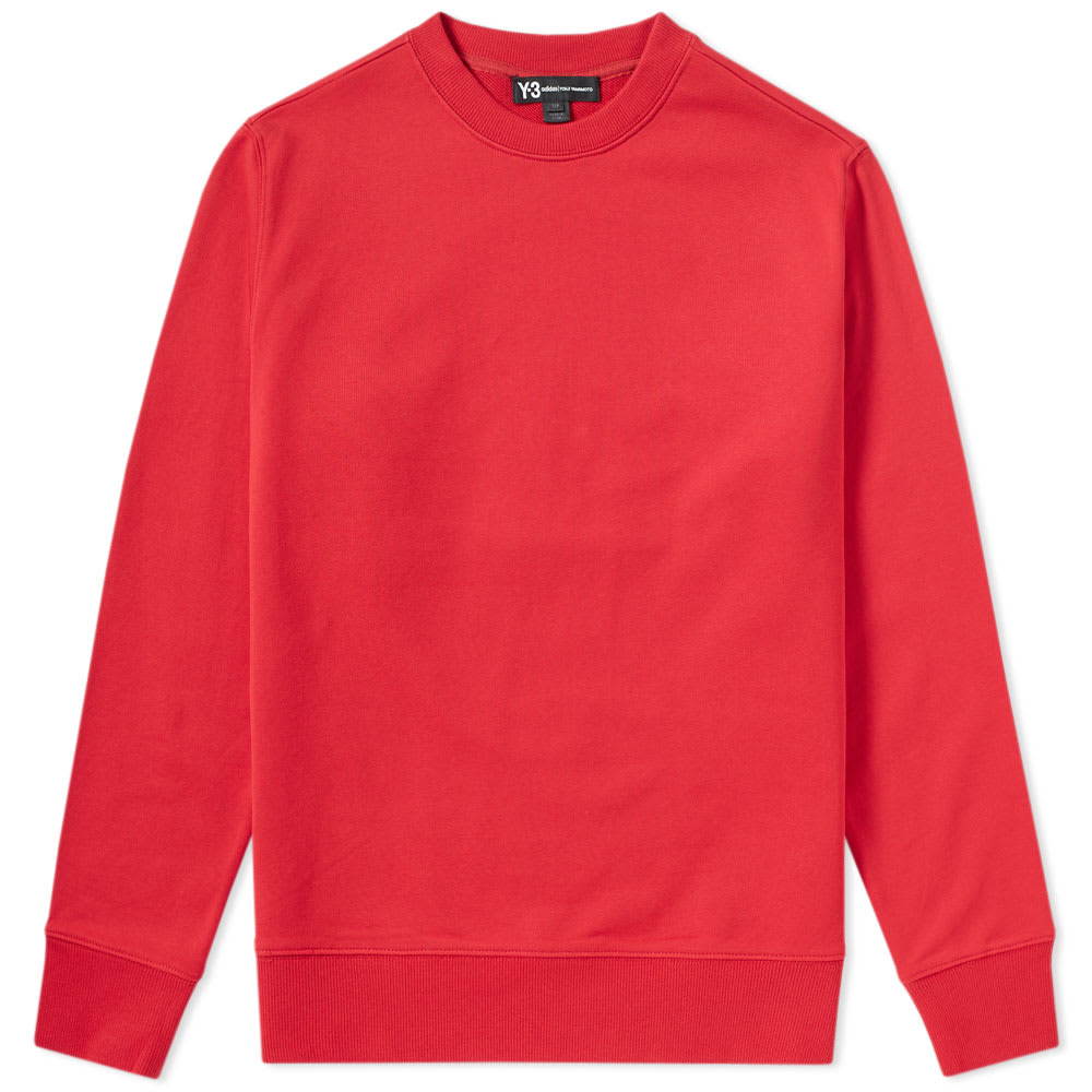 Y-3 Embroidered Back Cobra Crew Sweat Red