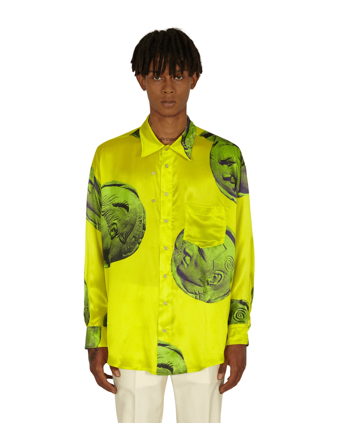 Photo: Magliano Currency Twisted Shirt Chiquita Yellow