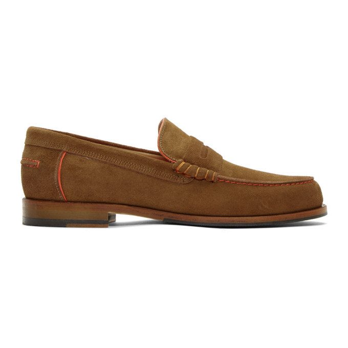 Photo: PS by Paul Smith Brown Suede Teddy Loafers