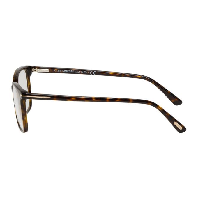 46d0052bf7 Tom Ford Tortoiseshell Block Soft Square Glasses TOM FORD