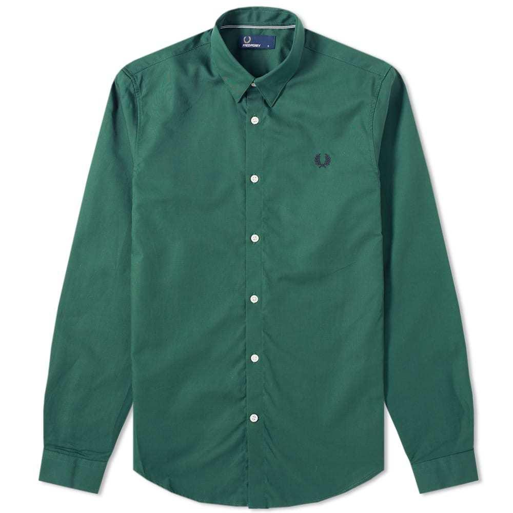 Photo: Fred Perry Button Down Shirt Tartan Green