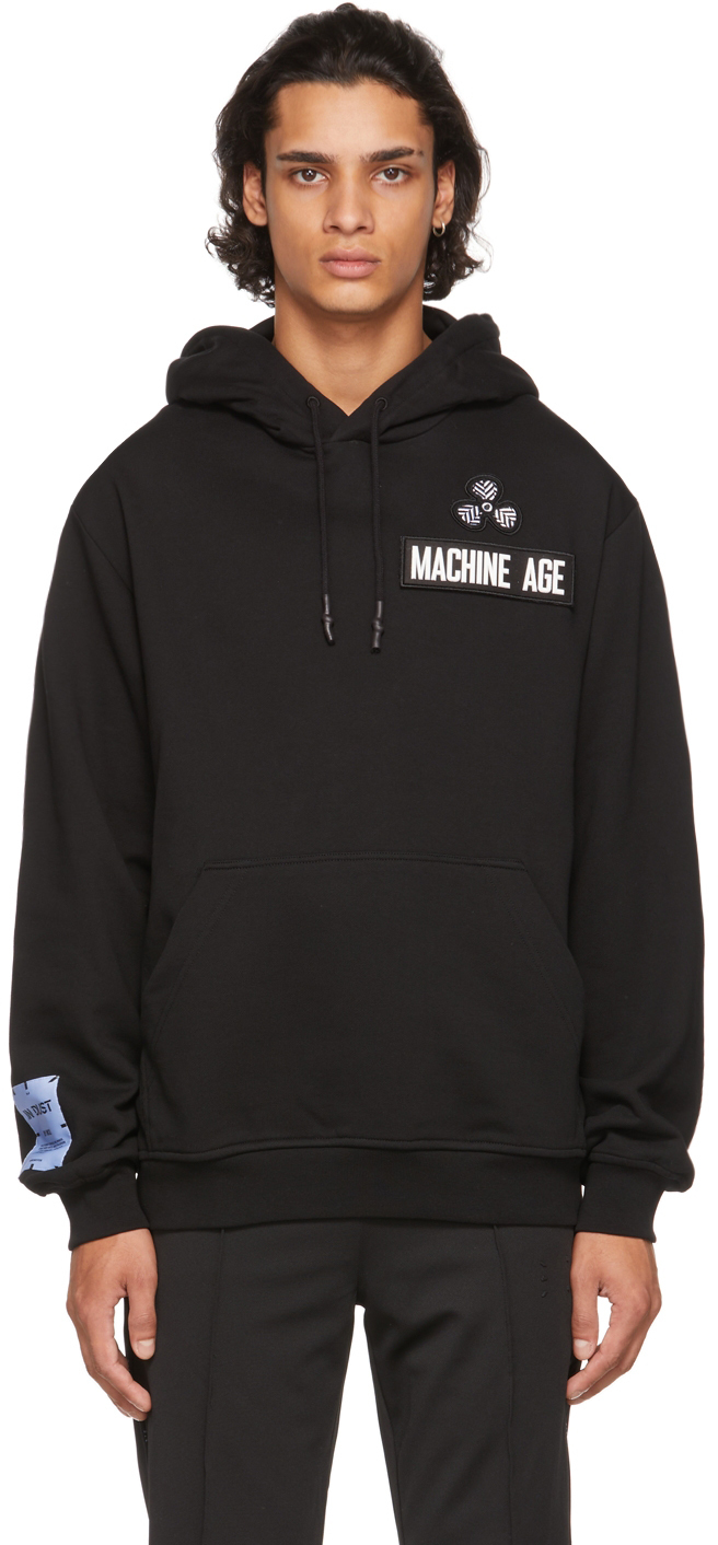 Photo: MCQ Black Patch Relaxed Hoodie