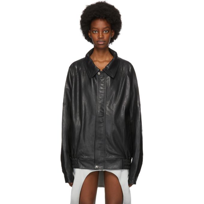 Photo: Lourdes Black Leather Back Cut-Out Jacket