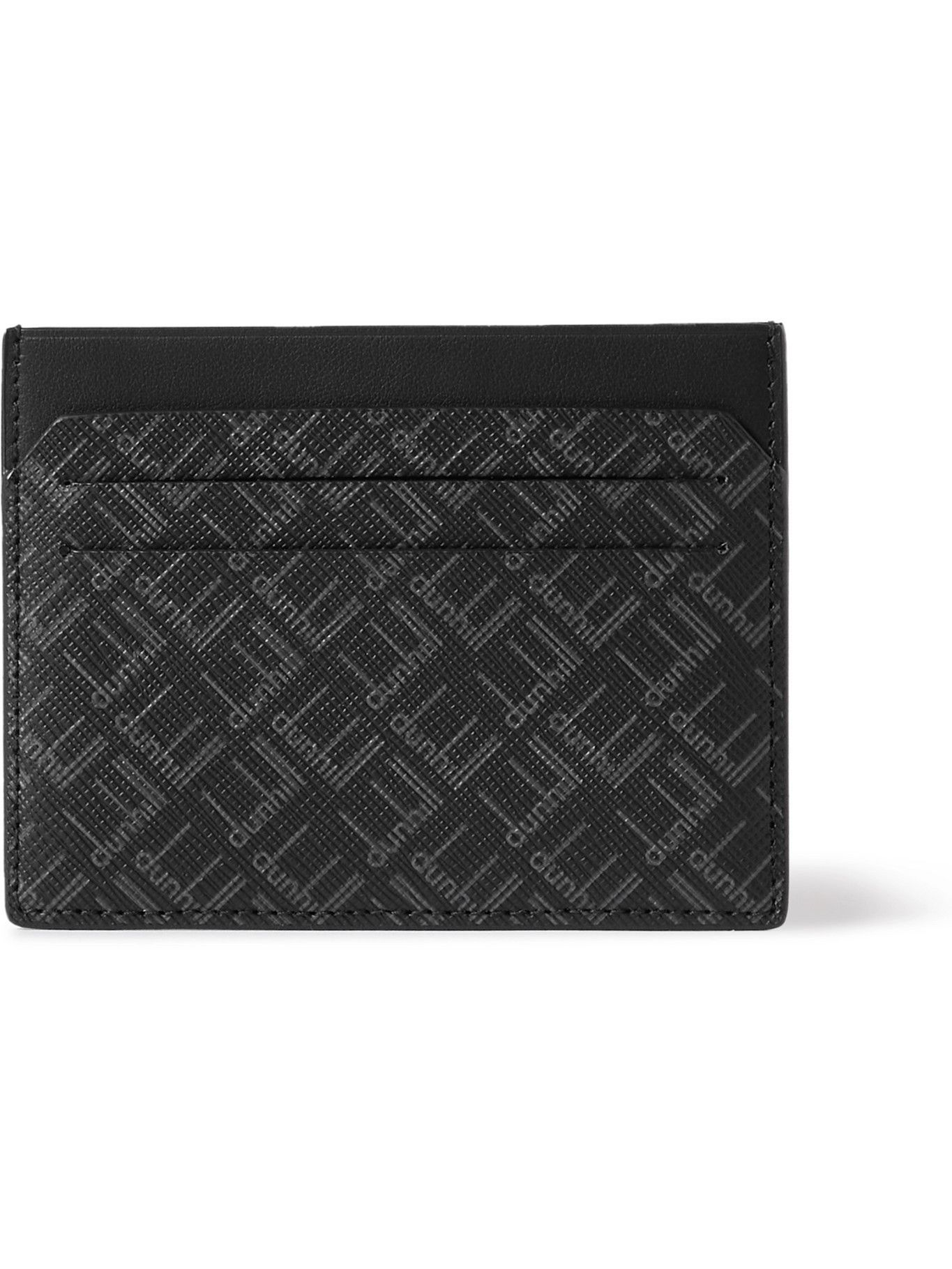 DUNHILL - Logo-Print Textured-Leather Cardholder