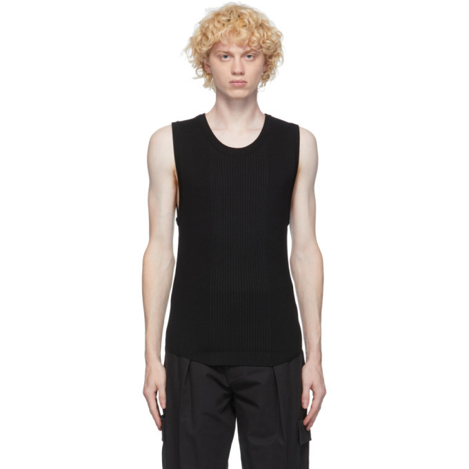Photo: System Black Wool Ribbed Tank Top