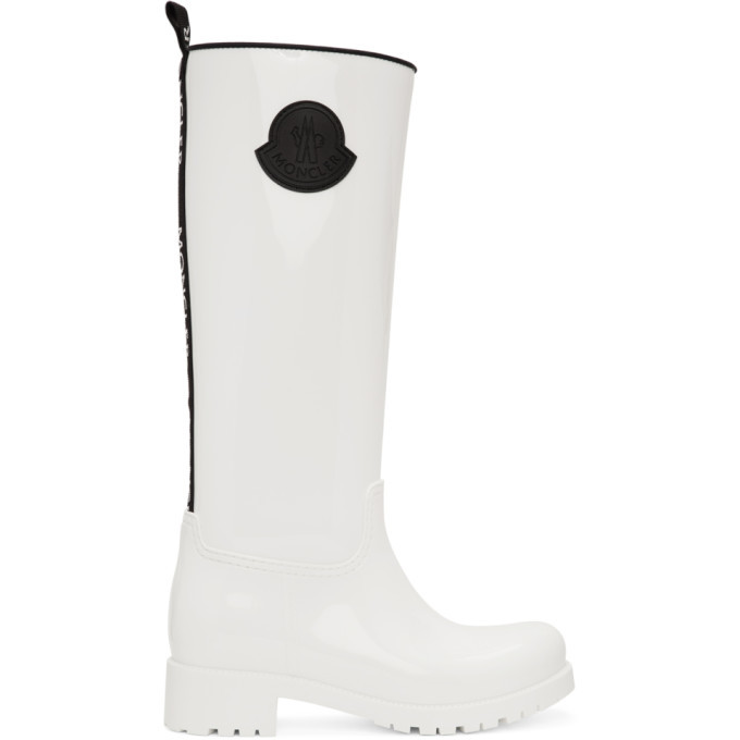 Photo: Moncler White Rubber Ginger Tall Boots
