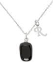 Raf Simons Silver & Black Stone Necklace