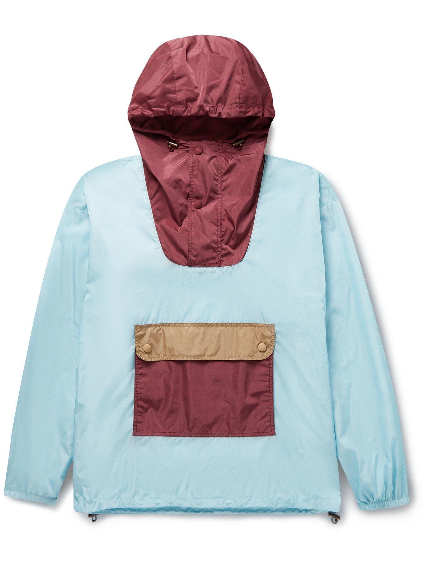 Photo: Etro - Hooded Paisley-Print Shell Half-Zip Jacket - Blue
