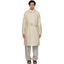 Giorgio Armani Beige Coated Linen Trench Coat