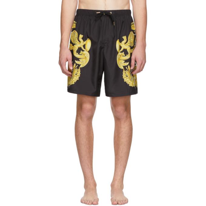 Photo: Versace Underwear Black Barocco Print Swimsuit