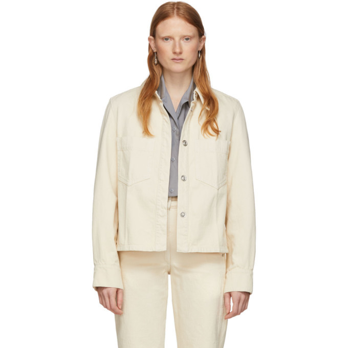 Photo: Lemaire Off-White Denim Boxy Jacket