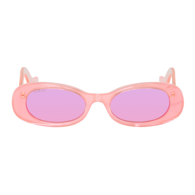 Photo: Gucci Pink Oval Sunglasses