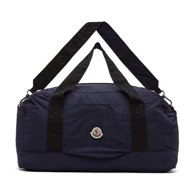 Photo: Moncler Navy Nylon Duffle Bag