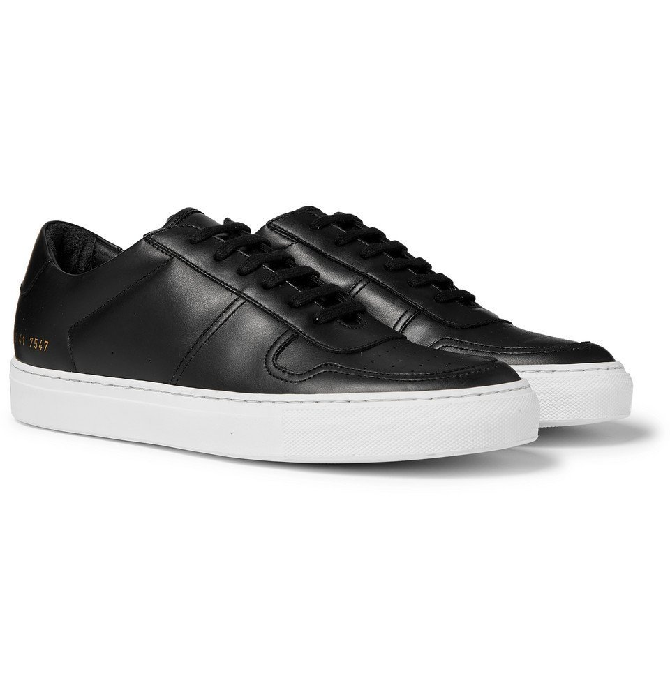 Photo: Common Projects - BBall Leather Sneakers - Black