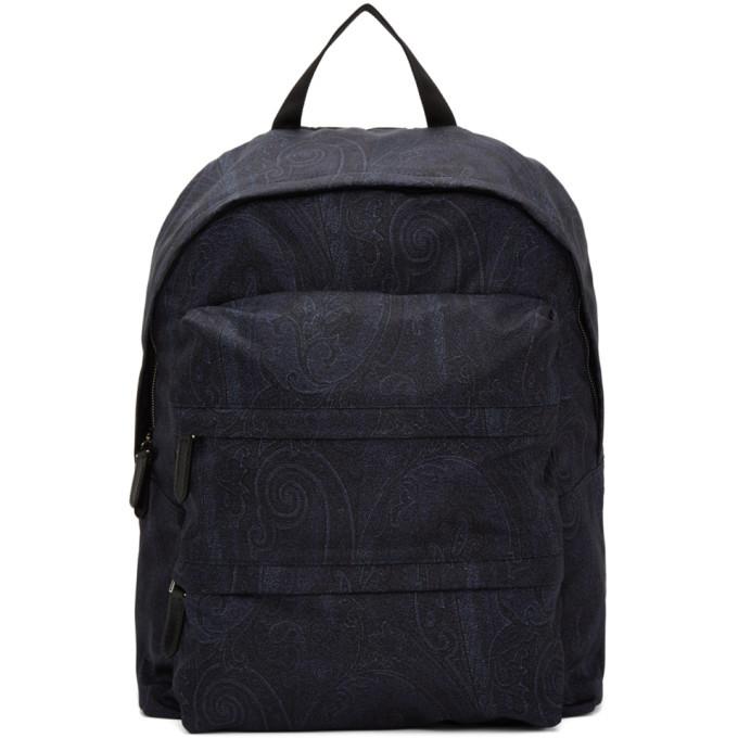 Photo: Etro Navy Paisley Backpack