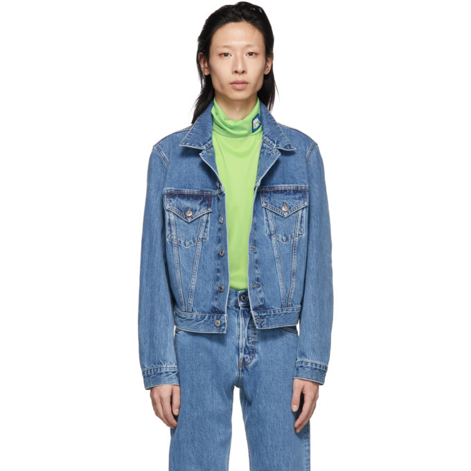 Photo: Helmut Lang Blue Denim Masc Trucker Jacket